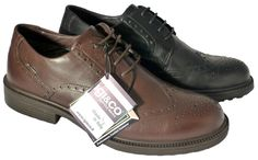 Made in Italy wingtip shoes for men with Gore-Tex