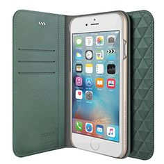 iPhone Case, iPhone 6 Wallet, araree [Diamond Cube] Premium Genuine Leather Diamond Pattern Wallet Case Flip Cover with Credit Card Holder for iPhone Wallet (Mint) 6s Plus Case, Iphone 6 Plus Case, Iphone Cases, Buy Iphone 6, Apple Iphone 6s Plus, Wallet Pattern, Slim Wallet, Diamond Pattern, Card Holder