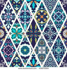 Portuguese Decorative Tiles Gorgeous Pattern From Colorful Floral Turkish Moroccan