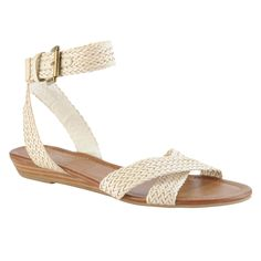 Aldo Hembre woven ankle strap sandal. Perfect for the honeymoon!