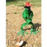 Metal Shovel Art | eBay Image 1 METAL FROG & SHOVEL Garden JUNK IRON YARD ART DECOR