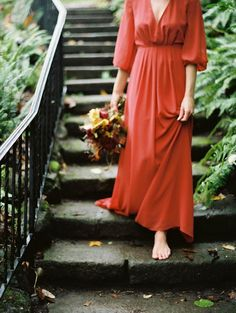 Outdoor Fall Wedding Inspiration - Once Wed Red Wedding Gowns, Wedding Hijab, Red Gowns, Wedding Attire, Wedding Bells, Wedding Colors, Movement Photography, Ethereal Wedding, Once Wed