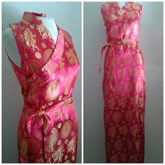 Vintage 1930's SilkSatin Dress/Gold by Joannesvintagecloset
