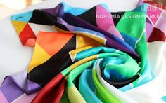 SILK SCARF - GREAT PLANS #original #silk #scarf #love  #geometry #harmony #great  #present  #shapes #colours #woman  #unique #accessories #joy Bohemia Design, Creative People, Geometry, Joy, Colours, Shapes, Silk, How To Plan, Woman