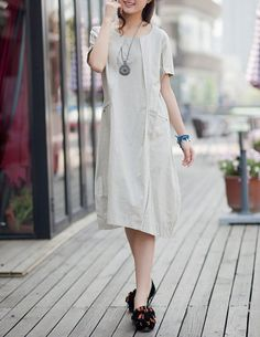 koton - white linen dress | linen | Pinterest | Products, White ...