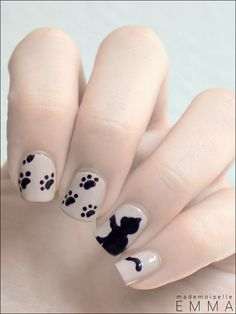 Le blog de Mademoiselle Emma: Nailstorming #17 Graou Nails Cute Nail Art, Cat Nail Designs, Nail Polish Designs, Hair And Nails, Cat Nails, Stylish Nails, Perfect Nails, Fabulous Nails, Gorgeous Nails
