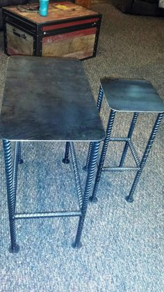 Custom Recycled Rebar Table Base with by LAZYKWroughtIron on Etsy
