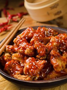 Poulet à la sauce aigre-douce (Chine) - Recette de cuisine Marmiton : une recette