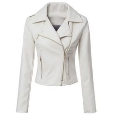 Stylish Turn-Down Collar Long Sleeve Zippered Slimming Women's PU Jacket and other apparel, accessories and trends. Browse and shop 5 related looks. Vegan Leather Jacket, Faux Leather Jackets, Cute Jackets, Jackets For Women, Black Jackets, Cheap Jackets, Mode Rock, Pu Jacket, Print Jacket