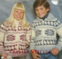 Children's White Buffalo Wool Knitting PATTERN by KilbellaVintage