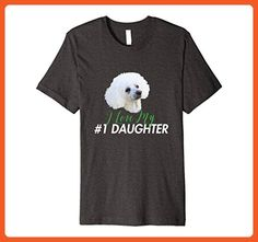 Mens I Love My #1 Daughter T Shirt 2XL Dark Heather - Relatives and family shirts (*Partner-Link)