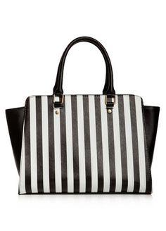 Striped Satchel Bag Striped Satchel Bag