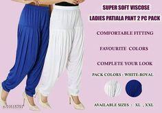 Ethnic Bottomwear - Patiala Pants Women fashoin styles dhoti patiyala Fabric: Viscose Rayon Multipack: 2 Sizes:  34 (Waist Size: 34 in Length Size: 40 in)  36 (Waist Size: 36 in Length Size: 40 in)  Country of Origin: India Sizes Available: 34, 36, 38, 40   Catalog Rating: ★4 (505)  Catalog Name: Feminine Women Patialas CatalogID_2190926 C74-SC1018 Code: 913-11615797-447