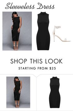 """""""Sleeveless Dress"""" by officialrt ❤ liked on Polyvore featuring Gianvito Rossi"""