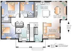 Détail du plan de Maison unifamiliale W3132-V1