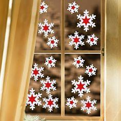 jolie idée fenêtres décoration de Noël