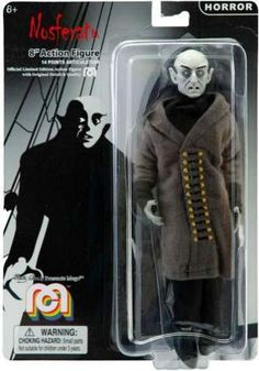 This Mego Nosferatu Count Orlok Action Figure is a must-have collectible for the biggest horror film fan. Standing tall with 14 points of articulation, this limited edition action figure portrays the character from the famous 1922 film. Horror Action Figures, Action Movies, Robot Monster, Monster Mash, Tv Movie, Sci Fi Horror Movies, Space Toys, Scary Monsters, Invisible Man