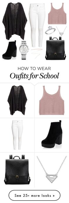 """School Day"" by susanna-trad on Polyvore featuring H&M, Tommy Hilfiger and Charlotte Tilbury"