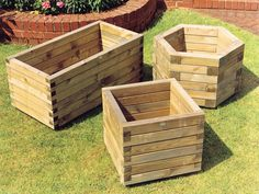 Planters | Heavy duty planters made from selected smooth timbers. Pressure ...