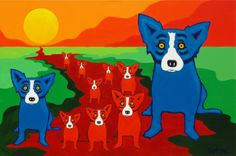 Musings of an Artist's Wife: Rodrigue on the Red River
