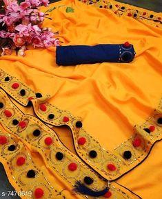 Ethnic Sarees, Silk Sarees, Yellow Fabric, Silk Fabric, Color Yellow, Diwali Dresses, Lehenga Choli Wedding, Buy Designer Sarees Online, Fancy Sarees