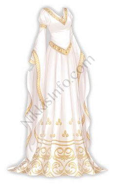 A traditional dress of the western regions in Cloud Empire. Studded with gems, it has an exotic charm. : A traditional dress of the western regions in Cloud Empire. Studded with gems, it has an exotic charm. Fashion Design Drawings, Fashion Sketches, Drawing Fashion, Pretty Dresses, Beautiful Dresses, Dress Outfits, Fashion Outfits, Stylish Outfits, Dress Shoes