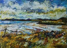 I haven't posted in a while but I have been working away in my studio and in the last month or so I'm out and about looking for inspiration around my local area in Ardara. I've sp… Irish Art, Donegal, Figure Painting, Original Paintings, Landscape, Artist, Inspiration, Biblical Inspiration, Scenery