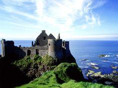 Dunlace Castle - County Antrim Ireland.