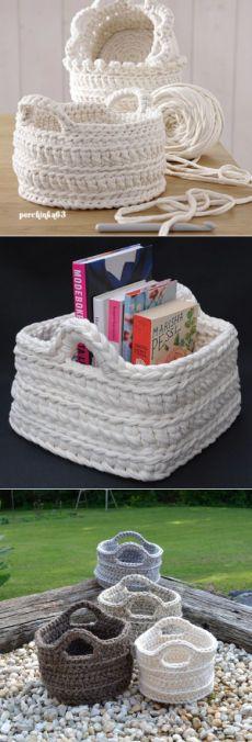 Baskets of Yarn spaghetti - Perchinka63