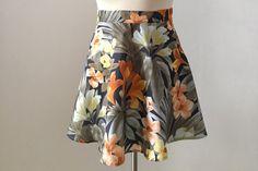 Tropical print Skirt Semi-Soleil от IAmCaitlyn на Etsy