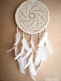 Dream Catcher  Snowfrost  Unique Dream Catcher with by bohonest, $50.00