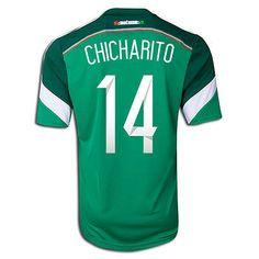 ADIDAS MEXICO CHICHARITO HERNANDEZ HOME JERSEY FIFA WORLD CUP BRAZIL 2014. 6ee736bb6c73e