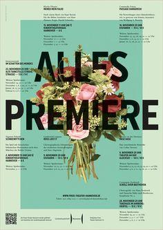 ALLES PREMIERE, poster design by Simon Kondermann, via Behance