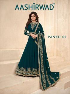 fec8a7b548 Aashirwad creation pankh vol 2 designer party wear dress catalogue from  surat dealer at Wholesale Price. INR 13770 pcs Georgette Latest catalog  Pankh vol 2