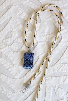 colar artesanal tiles artesanato DIY azulejo ceramica
