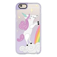 iPhone 6 Plus/6/5/5s/5c Case - Happy Unicorn - Purple (544.800 IDR) ❤ liked on Polyvore featuring accessories, tech accessories, iphone case, iphone cover case, apple iphone cases, purple iphone case and iphone hard case