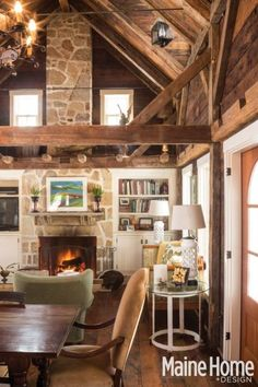 a classic white new england farmhouse in maine new england farmhousefarmhouse fireplacehome design - Maine Home Design
