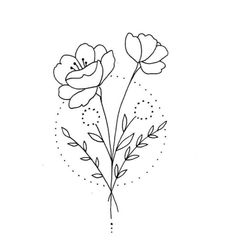 Girly Tattoos, Cute Tattoos, Flower Tattoos, Outline Art, Tattoo Outline, Mini Drawings, Easy Drawings, Witch Tattoo, Delicate Tattoo