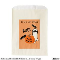 Halloween Ghost and Bats Custom Favor Bags