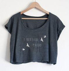 Wenn du ein Vogel bist bin ich ein Vogel-Film-Zitat das Notebook inspiriert Sexy Crop Top Bauch Tee Shirt T-shirt American Apparel Womens Farben auswählen