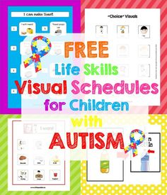 Free Life Skills Printable – Little Puddins Free Printables Visual Schedule Autism, Visual Schedule Preschool, Kids Schedule, Preschool Special Education, Visual Schedules, Visual Schedule Printable, Life Skills Activities, Life Skills Classroom, Teaching Life Skills
