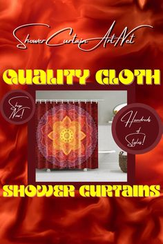 Give your bathroom decor an upgrade with one of our modern fabric shower curtains! Mandala Shower Curtain, Shower Curtain Art, Modern Shower Curtains, Fabric Shower Curtains, Bathroom Shower Curtains, Bohemian Bathroom, Modern Fabric, Flower Prints, Custom Fabric