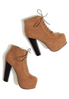 Tan coloured booties :}}