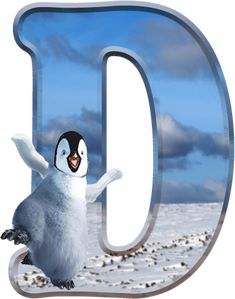 Alfabeto de Happy Feet bailando. | Oh my Alfabetos!
