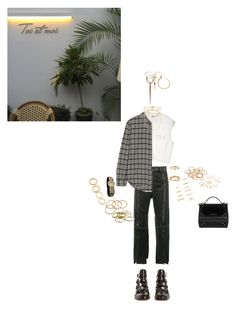 """""""Lobby"""" by badgyaljo ❤ liked on Polyvore featuring Vetements, Cheap Monday, Elizabeth and James, Givenchy, H&M, Wouters & Hendrix Gold, Gucci, Fendi, Anne Sisteron and Carolina Bucci"""