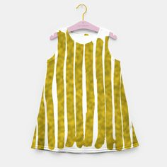 Gold Lines Girl's Summer Dress Little girls style with & with my unique art represents the environment and nature! Fashion Children, Nature Artwork, Gold Line, Gold Gifts, Little Girl Fashion, Art For Sale, Unique Art, Stocking Stuffers, Christmas Gifts