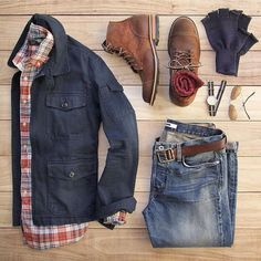 Plaid with solid is always great