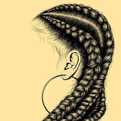 How To Draw Box Braids Idea hair black woman braids cornrows ear ring drawing doodle How To Draw Box Braids. Here is How To Draw Box Braids Idea for you. How To Draw Box Braids how to draw braidsbox braids on adobe sketch. Black Girl Art, Black Women Art, Black Art, Art Girl, African American Art, African Art, Natural Hair Art, Natural Hair Styles, Doodle Pictures