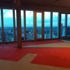 Object: A bespoke installation by Dutch artist Krijn de Koning who painted a floor piece direct on to raw concrete in the multi-Million euro penthouse apartment on the 44th Floor of De Rotterdam.