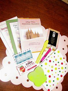 Young Women Inspiration: handouts gifts - purse-nal progress idea